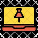 Laptop Location Pin Location Pointer Icon