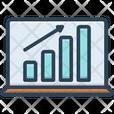 Laptop Profits Graphics Diagram Finance Icon
