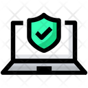 Laptop Protection Security Icon