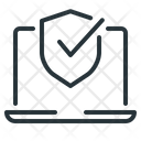 Shield Protection Laptop Icon
