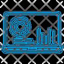 Analytics Laptop Market Icon