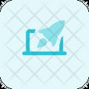 Laptop Rocket Online Startup Web Startup Icon