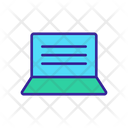 Laptop Scripting Icon