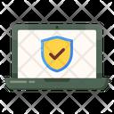 Laptop Security Icon