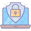 Security Laptop Antivirus Icon
