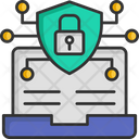 Laptop Security Laptop Protection Shield Icon