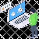 Laptop Protection Laptop Security Laptop Encryption Icon