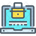 Laptop Security Secure Icon