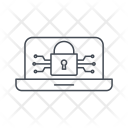 Laptop Security Criminal Icon