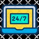 Laptop Service Hour Service Icon