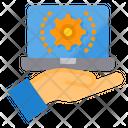 Management Laptop Online Icon