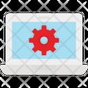 Laptop Setting Setting Web Gear Icon