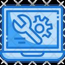 Laptop Technical Setting Icon