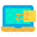 Folder Laptop Data Sharing Icon
