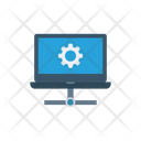 Laptop Sharing Network Icon