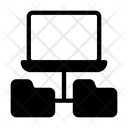 Laptop Folder Network Icon
