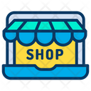 Laptop Online Shopping Shopping Icon