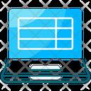 Laptop Spreadsheet Online Spreadsheet Spreadsheet Icon