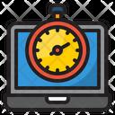 Laptop Stopwatch Icon