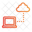Cloud Computing Communication Laptop Cloud Icon