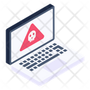 Laptop Threat Icon