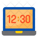 Laptop Time Time Watch Icon