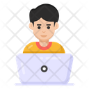 Freelancing Laptop User Freelancer Icon