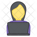 Laptop User Freelancer Online Worker Icon