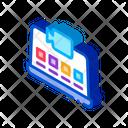 Laptop Video Recording Icon