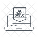 Laptop Criminal Virus Icon