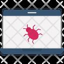 Computer Virus Corrupt Software Hacked Computer Icon