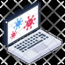 Laptop Virus Icon