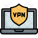 Laptop Vpn Security Laptop Protection Vpn Security Icon