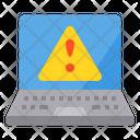 Warning Laptop Device Icon