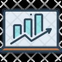 Laptop With Analysis Diagram Finance Icon