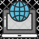 Laptop World Icon