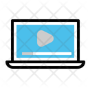 Laptop Youtube Video Icon