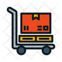 Large Box Cart Cart Trolley Icon