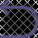 Large Turn Arrow Icon