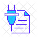 Laser Cutting Draft Icon