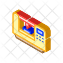 Laser Engraving Isometric Icon