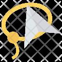 Lasso Paperplane Design Icon