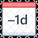 Minus Day Last Icon