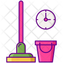 Last Minute Cleaning Cleaning Time Mop Icon