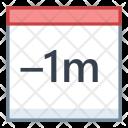 Minus Month Last Icon