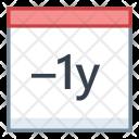 Minus Year Last Icon