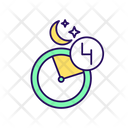 Late Night Time Interval Intermittent Fasting Icon