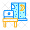 Working Home Night Icon