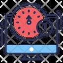 Latency Monitor Clock Icon