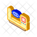 Lathe Equipment Isometric Icon